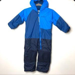 Columbia blue one piece snowsuit 4T A1